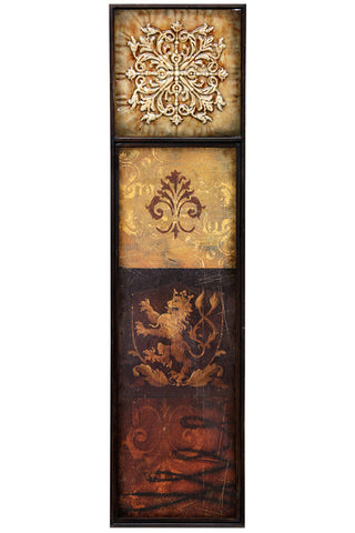 Regal Lion's Crest Wall Decor
