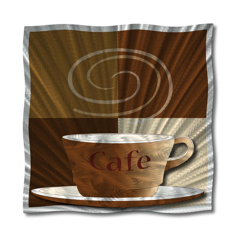 Morning Inspiration Cafe Cup Metal Wall Sculpture