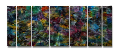 Impressionist View Seven-Panel Metal Wall Hanging