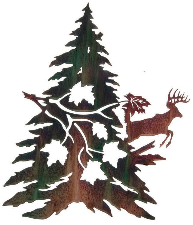 Frolicking Deer Metal Wall Sculpture