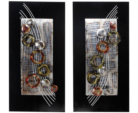 Artful Audacity Metal Wall Hanging Set of 2