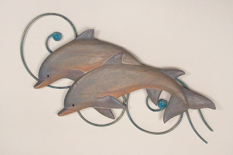 Arching Dolphins Nautical Wall Art
