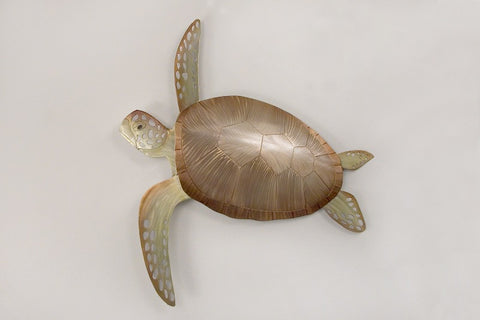 Powerful Swimmer Sea Turtle Metal Art