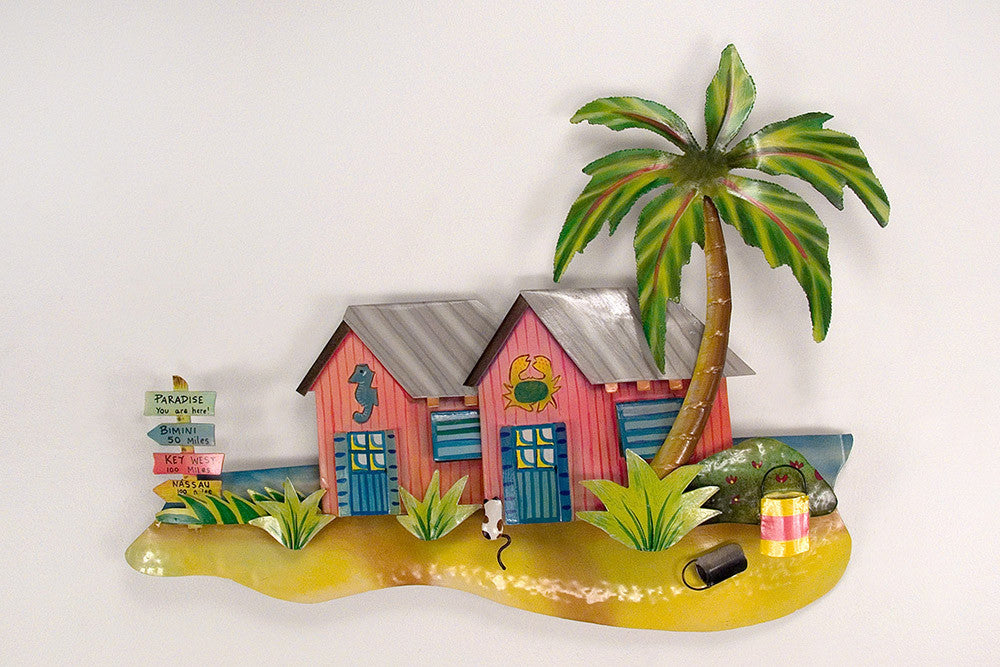 Paradise Bungalows Island Wall Art