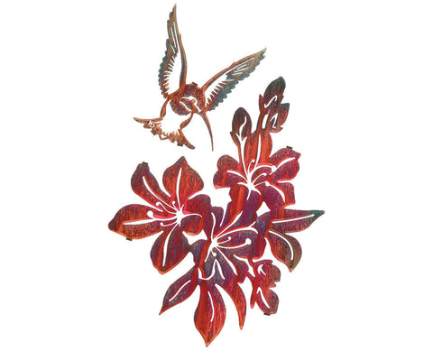 Hummingbird Delight Metal Wall Hanging