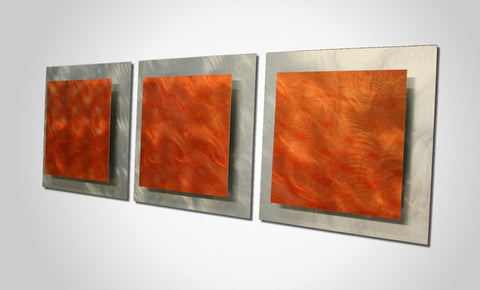 Fiery Jolt Metal Wall Art