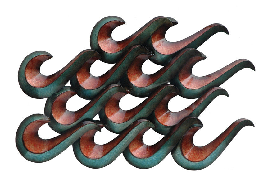 Infinity Waves Metal Wall Art