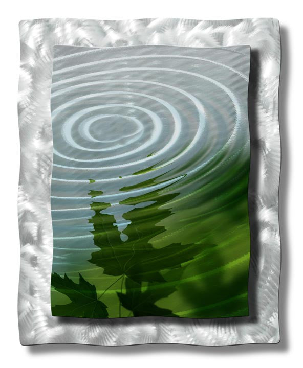 Ripples on the Water Leaves Metal Wall Sculpture