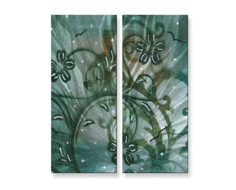 Distinctive Scrolls Floral Wall Art