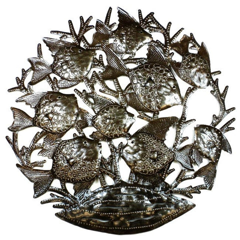 Fish Party Handmade Metal Wall Art