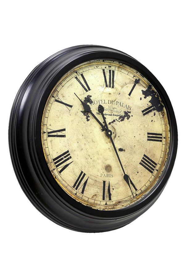 Vintage French  Station Wall Clock