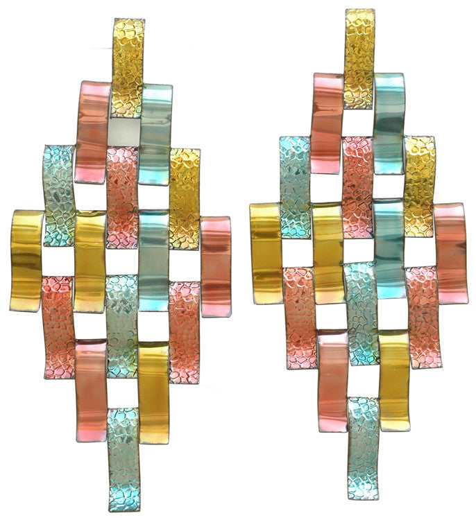 Jeweled Metallics Metal Wall Hanging Set of 2