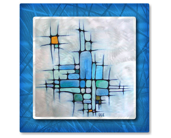 Abstract Geometrics Metal Wall Hanging