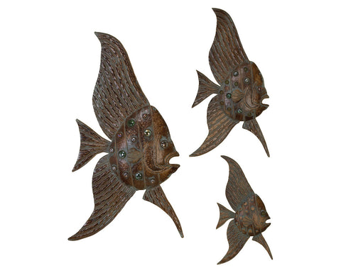 Angelfish Trio Wall Hangings Set of 3