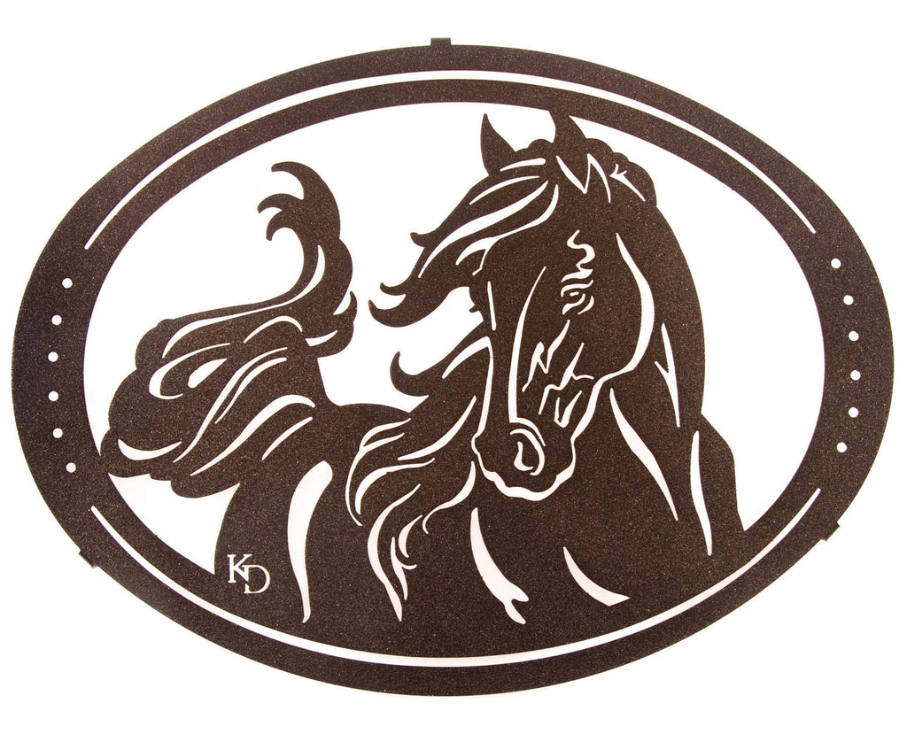 A Fine Filly Horse Metal Wall Art Hanging