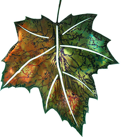Forest Greenery Leaf Metal Wall Art