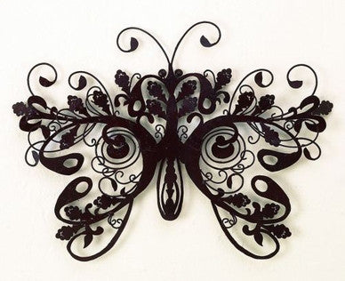 "27"" Regality of the Butterfly Handmade Metal Wall Sculpture"