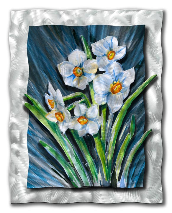 Spring's First Daffodils Metal Wall Hanging