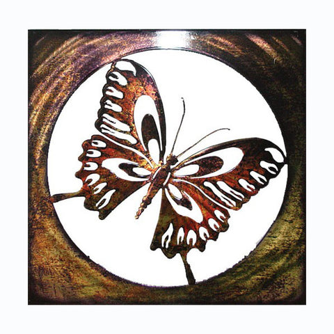 Bronze Butterfly Metal Wall Hanging