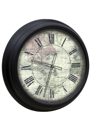 World Map Classic Wall Clock