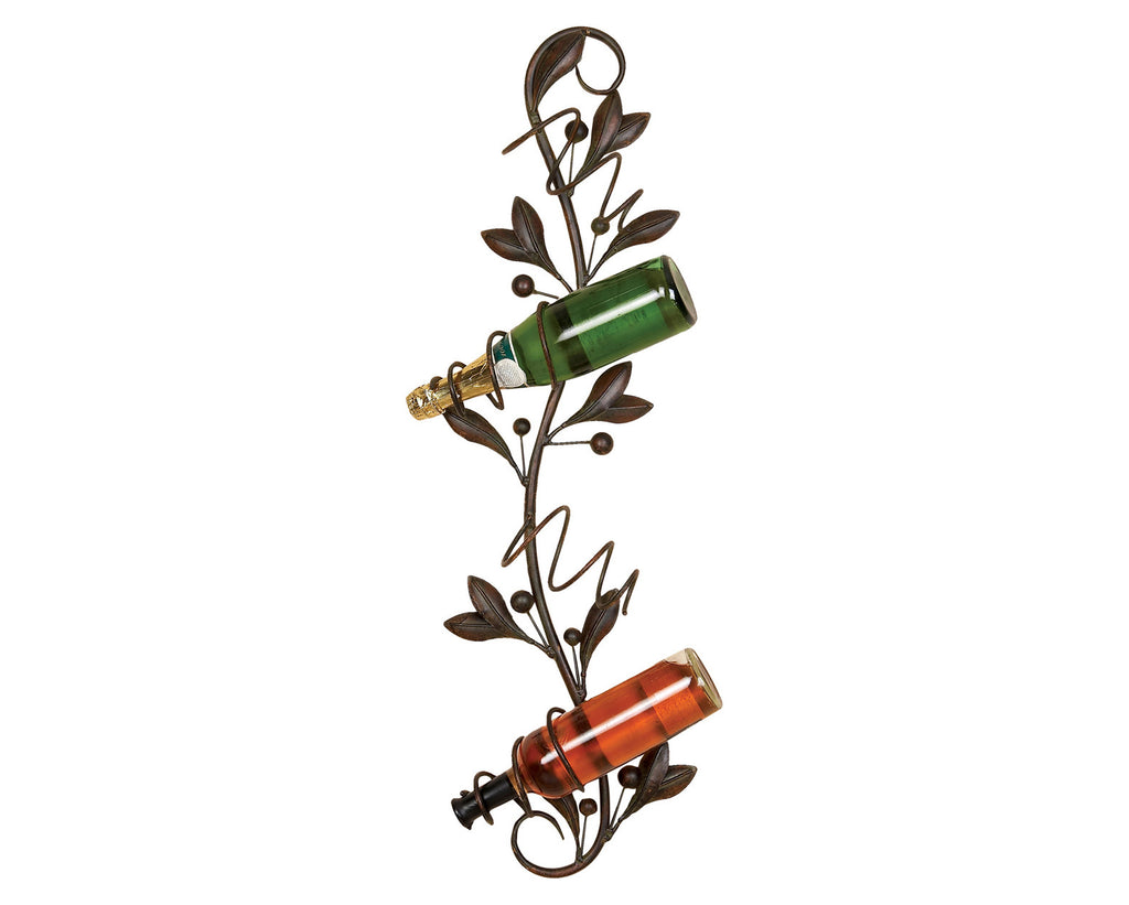 Decadence of the Vine Four-Bottle Metal Wall Wine Rack