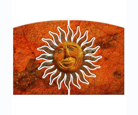 Smiling Sun Metal Wall Art