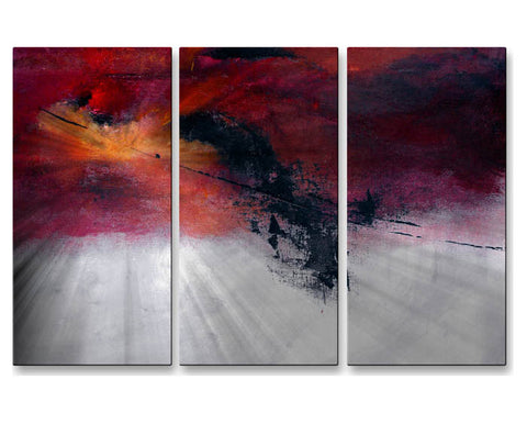 Beyond Reason Abstract Handmade Metal Wall Art Trio