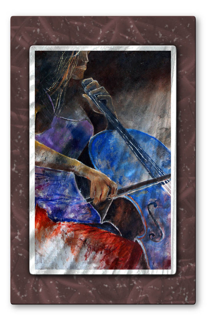 Cello Romance Metal Wall Hanging