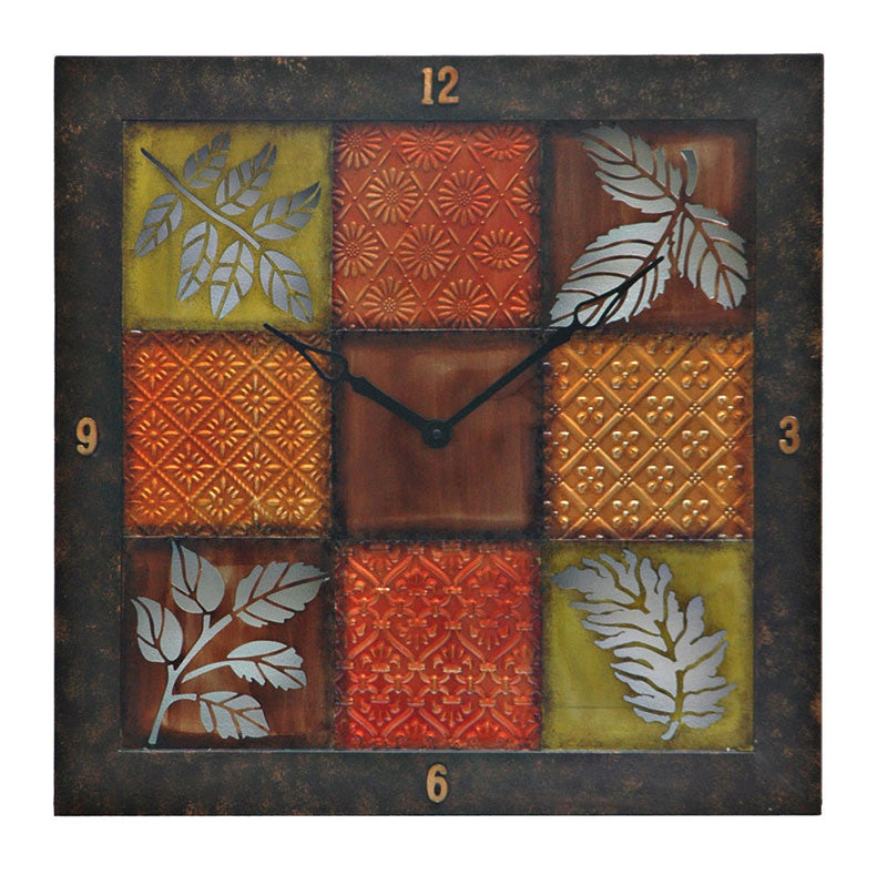 Autumn Fury Metal Wall Clock