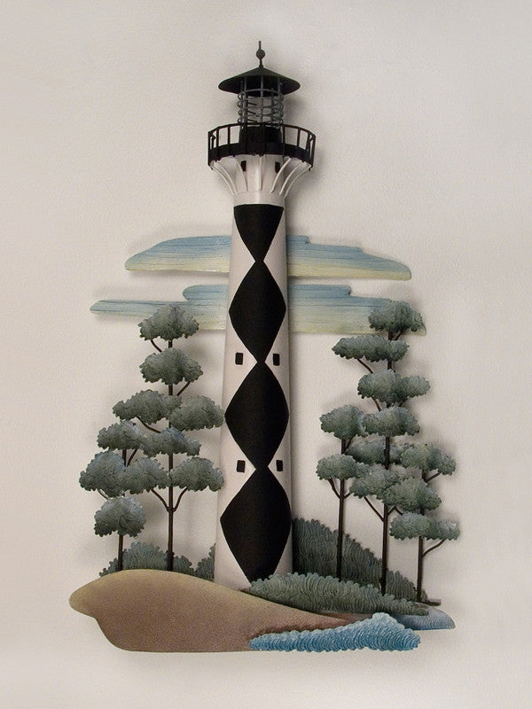 Cape Lookout Lighthouse Metal Wall Hanging