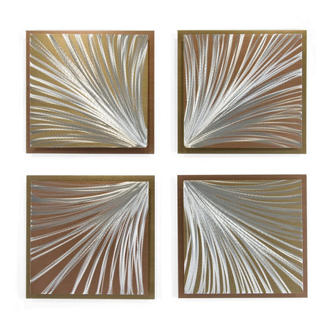 Flight of Fancy Contemporary Wall Sculpture Set of 4