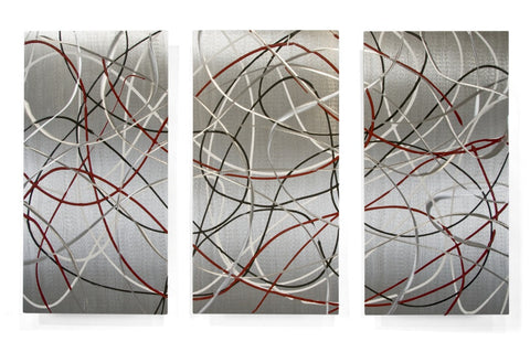 Inner Workings Abstract Wall Hanging Set of 3