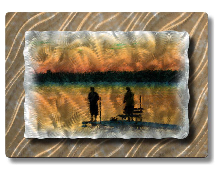 Friendship by the Dock Metal Wall Hanging
