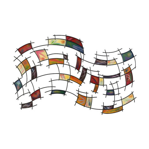 Swirling Symphony of Color Metal Wall Art