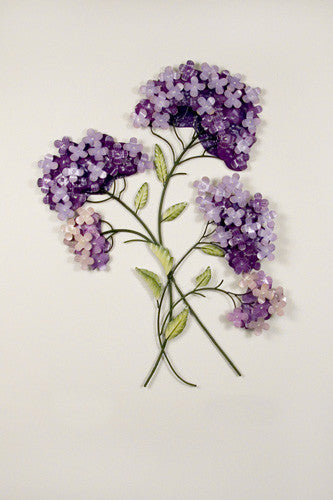 Clustered Lilacs Metal Wall Hanging