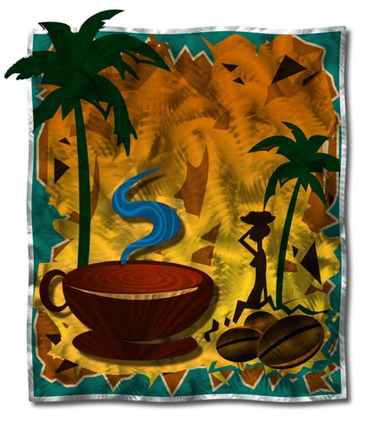 Tropics Coffee Abstract Metal Wall Hanging