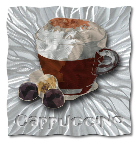 Cappuccino Cutout Metal Wall Sculpture