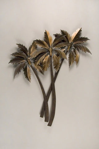 A Trio of Palms Tropical Wall Art