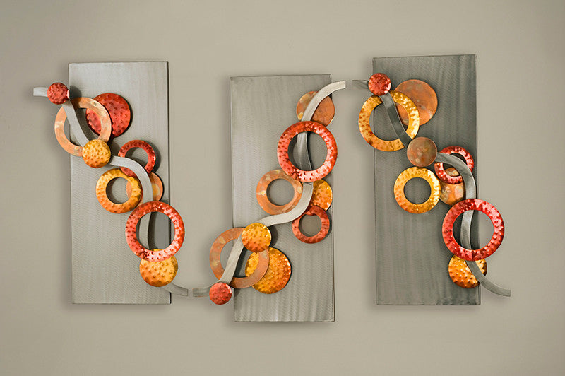 Circular Sensations Metal Wall Art Set of 3