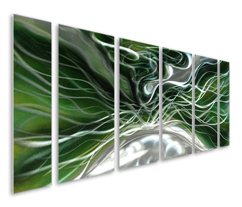 Seeking Solace Abstract Six-Panel Handcrafted Metal Wall Artwork