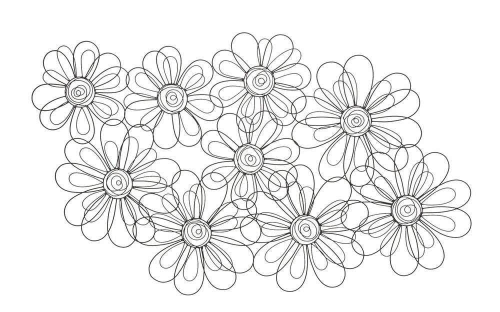 Blossoms Galore Wire Floral Artwork