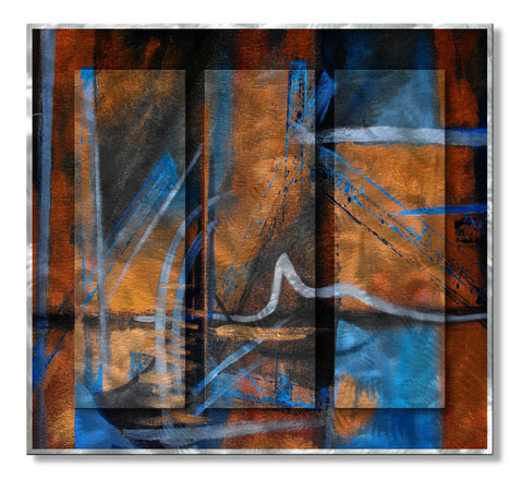 Color Amid Rust Handmade Metal Wall Hanging