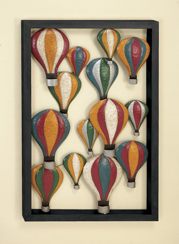Hot Air Balloon Celebration Metal Wall Hanging