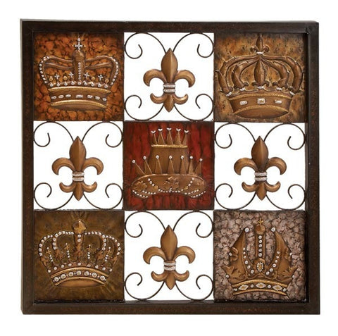 Crowns of His Royal Majesty Metal Wall Hanging