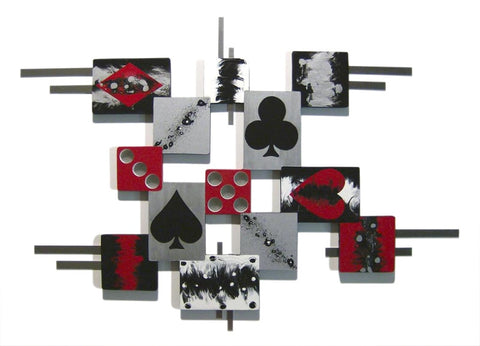 Casino Shapes Handcrafted Wooden Wall Art