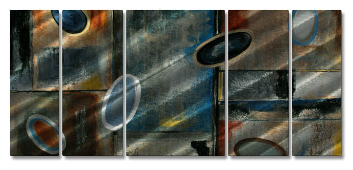 Definitive Distraction Five-Panel Metal Wall Art
