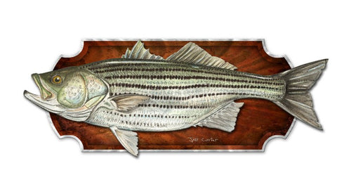 Big Bass Mounted Wall Plaque