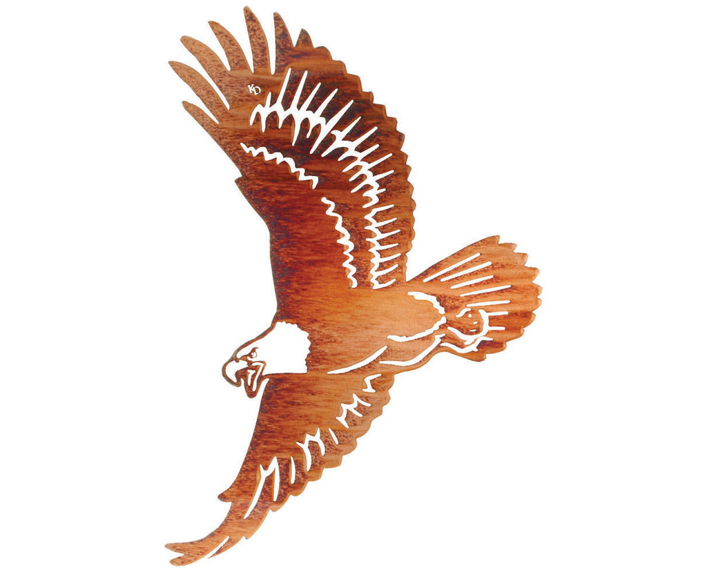 Soaring American Eagle Metal Wall Hanging