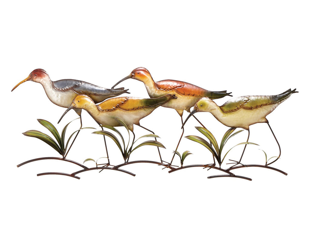 Strolling Sandpipers Decorative Wall Art