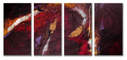 Miraculous Montage Four-Panel Abstract Metal Wall Hanging